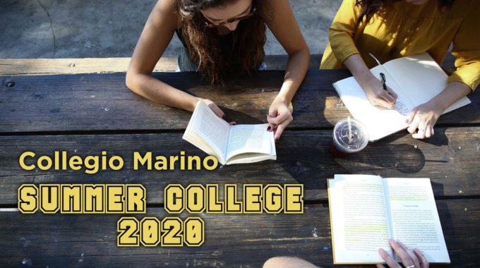 SUMMER COLLEGE 2020 Collegio Estivo Didattico Al Collegio Marino Castellamonte Torino
